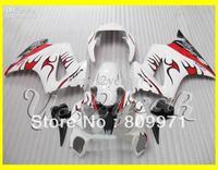 Top White Red Faring for HONDA VFR800RR 02-07 VFR 800RR 2002-2007 VFR800 RR 800RR 02 07 2002 2007