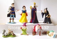 PRINCESS SNOW WHITE 8PCS FIGURE SET SLEEPY DOPEY GRUMPY QUEEN EVIL WITCH