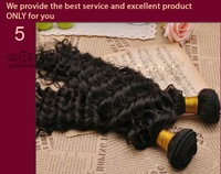 ON SALE 100 % Peruvian virgin human hair unprocessed Queen Deep Wave 1 pcs piece bundle weave weft remi afro curly curl stema 5a