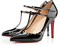New fashionable designer ladies shoes quality patent leather high heels party dress shoes  N-2012740