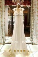 2013 New  White  Chiffon  V Neckliness Wedding Dress Bridal Gown Custom Size:6/8/10/12/14/16
