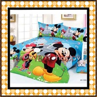 Free Shipping Cotton children 3pcs Bedding Set The Windmill Mickey Mouse Kid Bedding