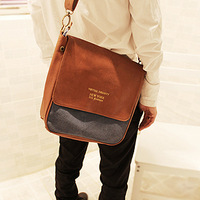 Hot selling Pu flip vintage shoulder bag messenger bag casual all-match male women's handbag school bag  new