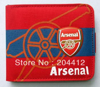 Arsenal FC Soccer High Quality Canvas Billfold Purse Wallet #34