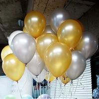 Pearlizing 12 decoration balloon gold balloon silver balloon circle