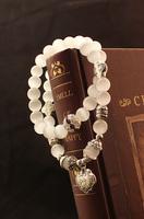 Fall in love handmade - eye natural austrian crystal bracelet  beaded bangle beads charm bracelet
