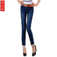 2013 spring jeans two ways plus size pencil pants female tight