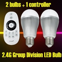 1PC+Free Shipping+Color Temperature & Brightness Adjustable, AC85-265V 6W LED Wireless RF Remote Control Bulb Lights