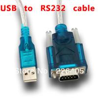 Free shipping USB 2.0 to RS232 Serial DB9 9 Pin Adapter Converter