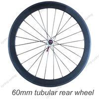 FREE SHIPPING 60mm tubular bike rear wheel 700c Carbon fiber road Racing bicycle wheel,single wheel