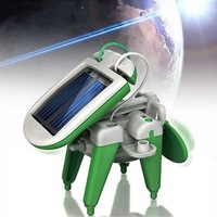 6 IN 1 Solar Power Moving Dog Car Airboat Robot DIY Toy Kit Teaching Gadget