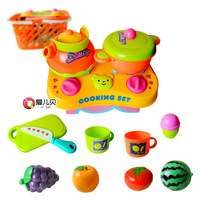 Baby plastic fruit qieqie look child kitchen utensils set toy