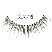 Natural handmade cross alinda transparent false eyelashes commuters 7 cross