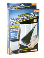 Adjustable Slimming Belt Slim Away Weight Loss Belt 5 Zippers and Sauna Action