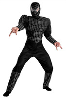 Vestidos Pelicula free shipping halloween cosplay costume spiderman adult black deluxe full sets costume