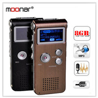 Rechargeable 8GB 8G USB VOR 650Hr Digital Audio Voice Recorder Dictaphone MP3 Player Black Free shipping  DA0481