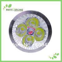 Wholesale Free Shipping 10pcs/lot GU10 6W 110-240V LED Warm White / Day White Spot Light Bulb 400-430lm