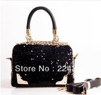 2013 Hot Sale Fashion Women Bag Lady PU handbag PU Leather Shoulder Bag Europe and America Popular women fashion color