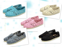 woman flats shoes 2013 Lady Europe style New Fashion Canvas Shoes Cut-Outs Breathe Freely women summer Shoes Europe size 35-40