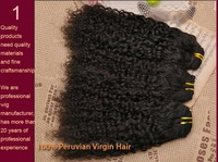 ON SALE 100 % g Peruvian virgin human hair unprocessed Queen afro Kinky curl curly 1 pcs piece bundle weave weft remi stema 5a