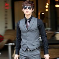 Leather vest handsome vest business casual suit vest male vest