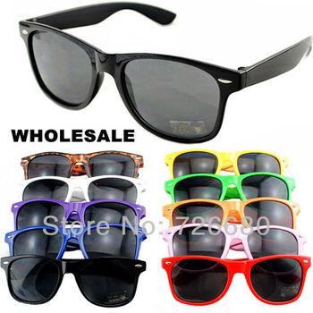 Free Shipping! Wholesale (10 pieces/lot) Mix Colors 2014 Fashion Wayfarer Men Women Retro Vintage sunglasses