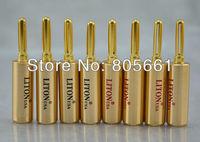 Hi End Audio USA Liton Red Copper Gold plated speaker banana plug