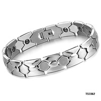 (Min Order is 10$) Hot selling fashion jewelry magnetic health germanium titanium male bracelet gs3362