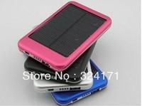 DHL Free Shipping 20pcs 5000mAh USB Solar Power Charger Battery for iPad Phone Ipod
