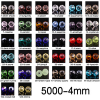 600pcs Round 5000 4mm Austria Crystal Beads wholesale crystal beads  you Pick Color