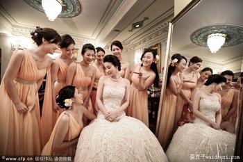 The wedding dress bridesmaid dress long dress formal design banquet champagne color l230