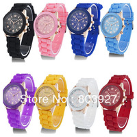 2013 Hot sale New Fashion Designer Ladies sports brand silicone watch jelly watch  quartz watch women men Free Shipping