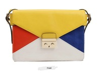 2013 Fashion TMC Women Lock Ornament Candy Multi Color Clutch Elegant Shoulder Bags YL156