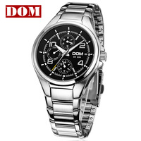Fine Men's Wrist Watch Quartz Hours Best Fashion Stainless Steel Auto Date 50 meters Water Resistant Brand Sport MS-376
