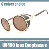 stylishly psy round sunglasses steampunk goggles male eyeglasses frames hotsale retro metal glasses circle shape female glasses