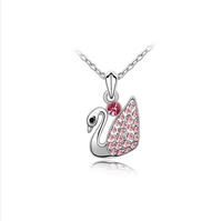 Accessories necklace austria crystal platinum pendant necklace female gift