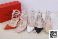New Design Brand Warren Vtino 2013 tipped Crystal rhinestone transparent new rivet high heel shoes Geniune leather women sandals