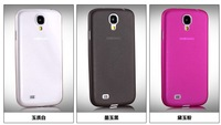 200PC/Lots DHL Free For Galaxy S4 i9500 Top Quality Fashion Colors 0.3mm Matte Soft PP  Ultra Thin Case Free shipping