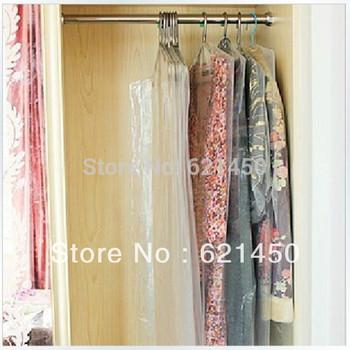 Clothing Dust Cover 8 Wire Transparent Plastic PE Suit Dustproof Storage Bag length 180CM for Wedding dress Evening dress