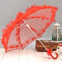 High quality big red full lace bridal umbrella props umbrella wedding umbrella Marriage gauze umbrella Wedding Party