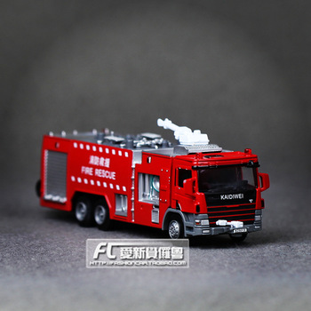 Metal alloy car model Bulk full alloy fire engine fire truck 119 alloy car toy gift for children  christmas