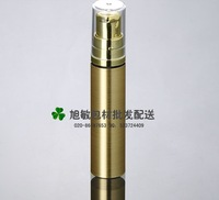 Capacity 10ml free shipping 100pcs/lot gold color lotion Pump airless Bottle with high quality pump bottle