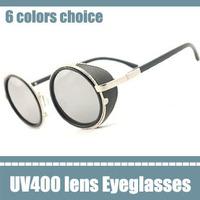 geek glasses the color mirror vintage round sunglasses the novelty female glasses uva 2013 baroque brand designer eyeglasses