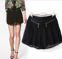 2013 spring summer women lady front skirt back trousers Chiffon pantskirt boots pants free shipping