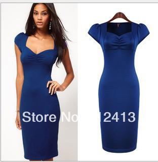 NEW arriva hot women summer dress, OL lady silk fashion slim Korean ...