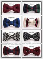 Мужской галстук High Quality Men's bow tie, fashion polyester bow tie plaid bowtie, Mixed Styles for choose + 100pcs/lot #0653