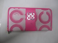 Hot sale Fashion C pattern style Women Canvas wallet 5 colors