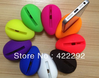 New Arrival! FREE SHIPPING 10pcs/lot Silicone Wireless Portable Mini 12 color Music Egg Audio Dock Loud Speaker for iPhone 4/4S