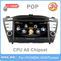 1GHz DDR2 512MB for Hyundai IX35/new Tucson 2.0L Version Car Radio DVD Player GPS Bluetooth Support 1080P Video Player