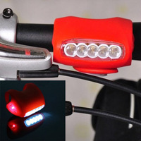 New Cycling Bike Bicycle Red Silicone 7 LED Super Front Light Or Rear Lamp